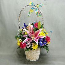 Easter Blessing Bouquet Basket of Flowers