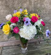 Easter Blooms Vase arrangement