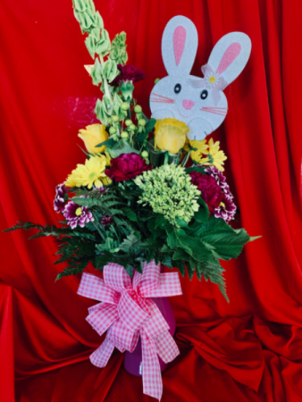 Easter bunny arrangement  Fresh flowers