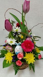 Easter Bunny Basket Arrangement