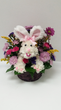 Easter Bunny Basket Easter in Webster, TX |  La Mariposa Flowers