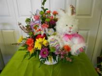 Easter Bunny Magic Baket Arrangment