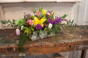 Easter Centerpiece Fresh Easter Centerpiece in Dixon, IL | WEEDS FLORALS, DESIGN & DECOR