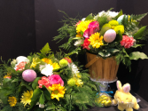 Easter centerpiece  Mixed floral with eggs