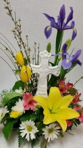 Easter Cross Arrangement