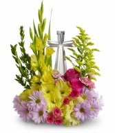 EASTER CRYSTAL CROSS FLOWERS FOR THOUGHT