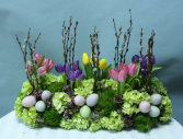 Easter dinner table arrangement  A real show stopper