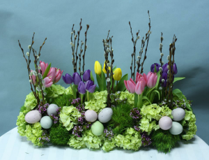 Easter dinner table arrangement  A real show stopper in Ozone Park, NY | Heavenly Florist