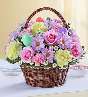 Easter Egg Basket™ Arrangement in Croton On Hudson, NY | Cooke's Little Shoppe Of Flowers