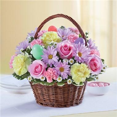 Easter Egg Basket Floral Arrangement