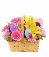 Easter Egg Floral Basket Arrangement