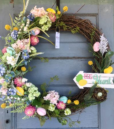 Easter Egg Hunt door wreath