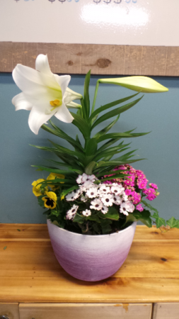 Easter Lily Planter Mix Flower Planter