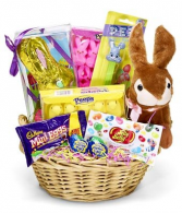 Easter Treat Candy and Bunny Gift Basket