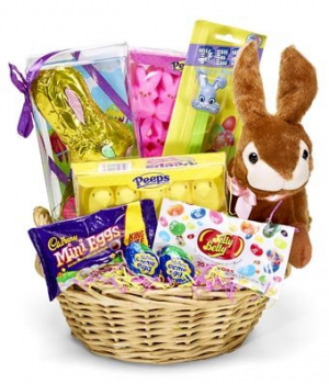 Easter Treat Candy and Bunny Gift Basket in Bend, OR | AUTRY'S 4 SEASONS FLORIST