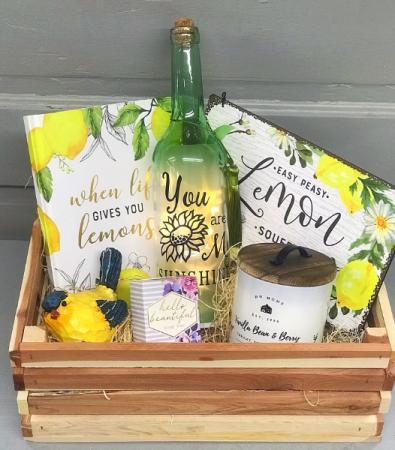 Easy Peasy Lemon Squeezy  Gift Crate