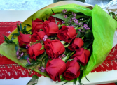 Eco-Friendly Rapt in Love Wrapped Cut Flowers
