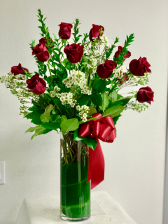 Ecuadorian long stem roses Tall arrangement long stem red rose