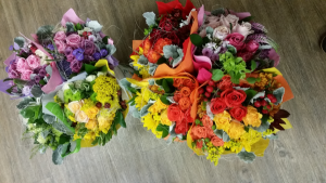 Ecuadorian Wrapped 30 Stem Bouquets Wrapped bouquet - NO vase in Bloomington, IN | BLOOMIN' TONS