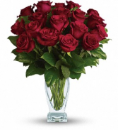 Eighteen Red Roses Rose Arrangement