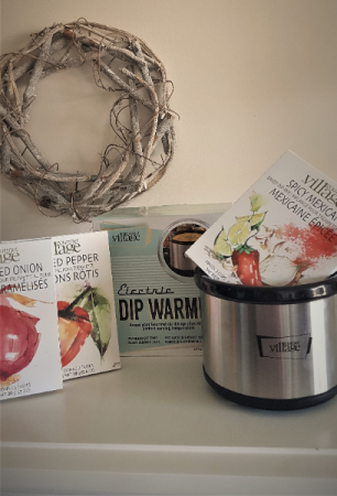 DIP WARMER WITH 3 DIP MIXES Electric warmer for dips, fondue, lobster butter