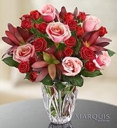 Elegance Bouquet In Hand Cut Leaded Crystal  Vase
