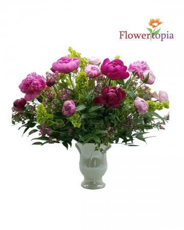 Elegance  Peonies Bouquet Luxury Peonies Arrangement