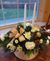Elegance Glows Centerpiece Christmas Centerpiece