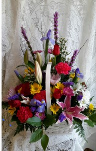 Elegance in a basket  in North Salem, IN | Garden Gate Gift & Flower Shop