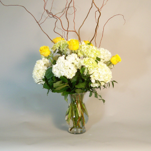 Elegance in Hydrangea Arrangement in Croton On Hudson, NY | Cooke's Little Shoppe Of Flowers