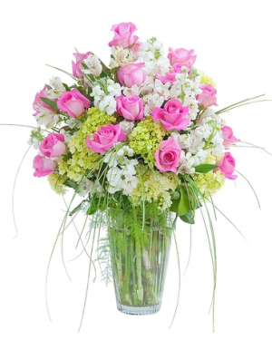 Pink & White Elegance Arrangement in Croton On Hudson, NY | Cooke's Little Shoppe Of Flowers