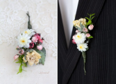 Elegance in small Corsage and Boutonniere