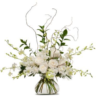 Elegance in White Arrangement