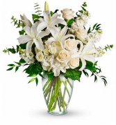Elegance in White Fresh Flowers