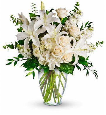 Elegance in White Fresh Flowers