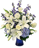 Elegance of Winter Flower Arrangement in Long Beach, California | Tom & Jeri's Florist