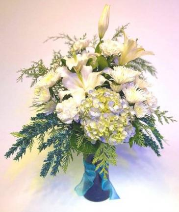 Elegance of Winter Vase Arrangement