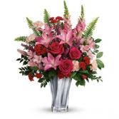 Elegant Adoration Bouquet Vase arrangement