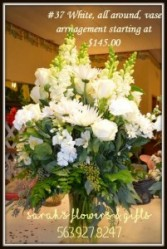 Elegant all white Sympathy Arrangement
