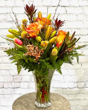 Elegant Amber Vase Arrangement in Summerville, SC | The Tilted Tulip