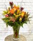 Elegant Amber Vase Arrangement