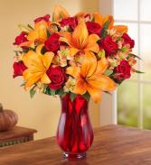 Elegant Autumn Rose & Lily Bouquet