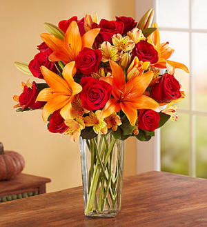 Elegant Autumn Rose & Lily Bouquet Fall Flowers in Orlando, FL | Artistic East Orlando Florist