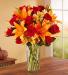 Elegant Autumn Rose & Lily Bouquet Fall Flowers