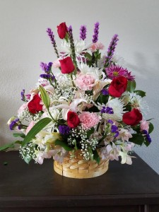 Elegant Basket Mixed with Roses, Lilies, Daisies, Carnations and more! in Clearwater, FL | FLOWERAMA