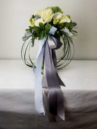Elegant Blue Beauty  Bridal or Brides Maid Bouquet