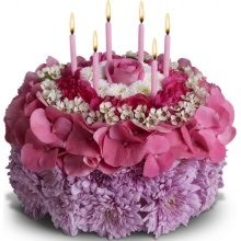Elegant Birthday Cake Flower