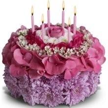 Elegant birthday cake Cake flower in Tampa FL MILLYS FLOWERS