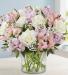 Elegant Blush Blooms Mixed Floral Arrangement
