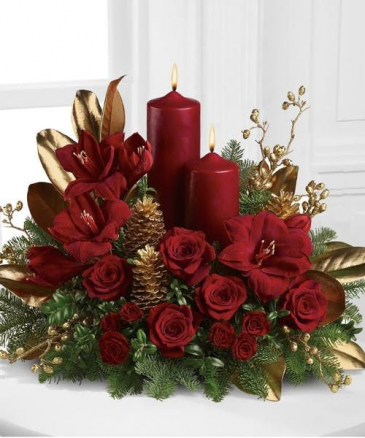 ELEGANT CHRISTMAS TABLE ELEGANT MIXTURE OF FLOWERS